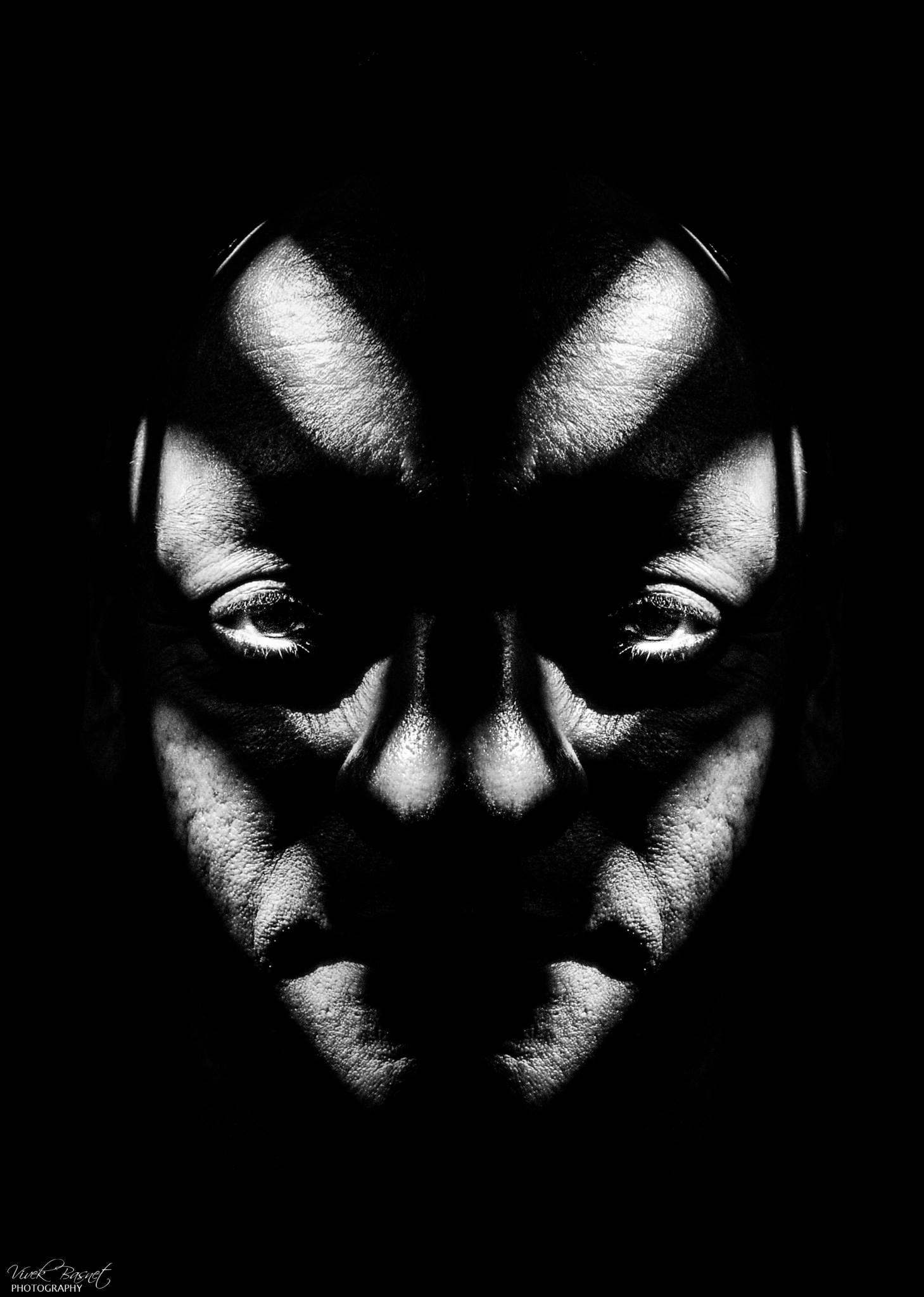 Mask on a man